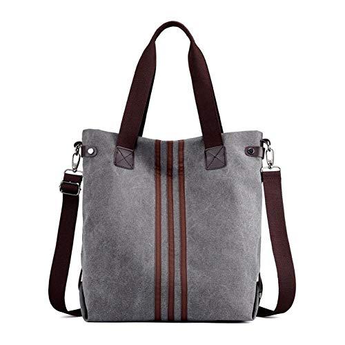 Nlyefa Canvas Handtasche Damen Umhägetasche Groß Vintage Schultertasche Shopper Tasche für Alltag Büro Schule Reise