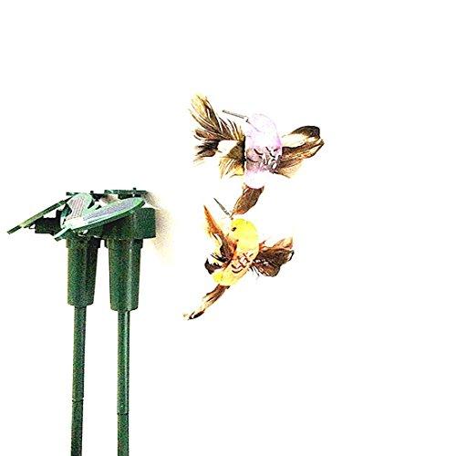 Schöne Solarbetriebene Fliegen flatternde Kolibri Fliegen Vögel DIY Garten Home Decoration Zufällige Stil