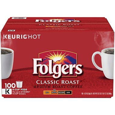 Folgers Classic Röstkaffee (100 K-Tassen)