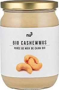 Nu3 Puree De Noix De Cajou Bio 250g Noix De Cajou De Qualite