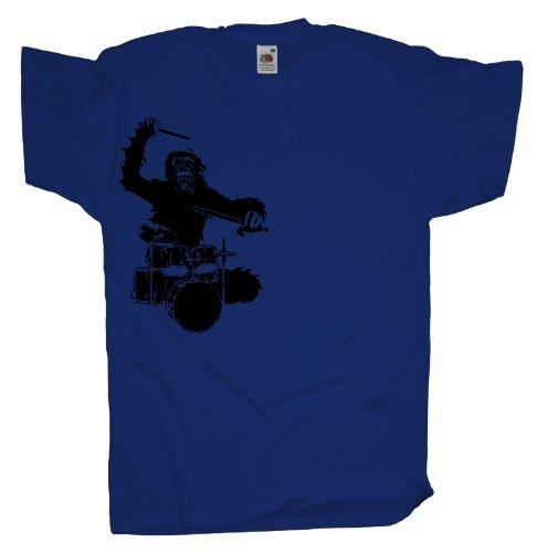 Ma2ca - Drummer - T-Shirt Gorilla Royal
