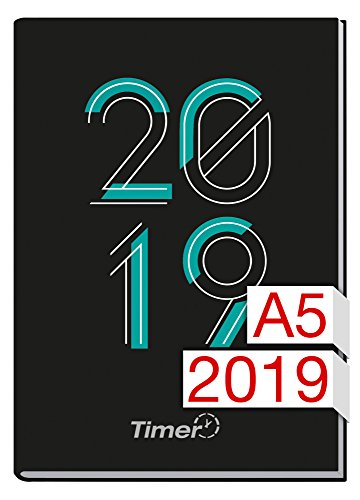 Chäff-Timer Classic A5 Kalender 2019 [zweitausendneunzehn] 12 Monate Jan-Dez 2019 - Terminkalender mit Wochenplaner - Organizer - Wochenkalender