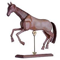 dalbe Articulated Horse 30cm Natural