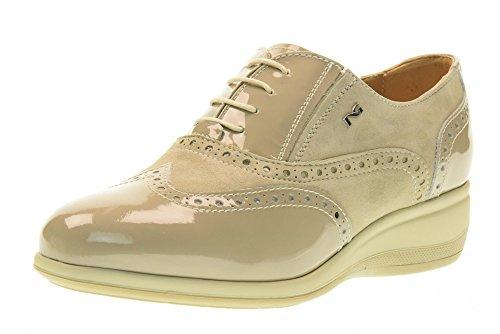NERO GIARDINI scarpe donna inglesine zeppa P717961D/410 Sabbia