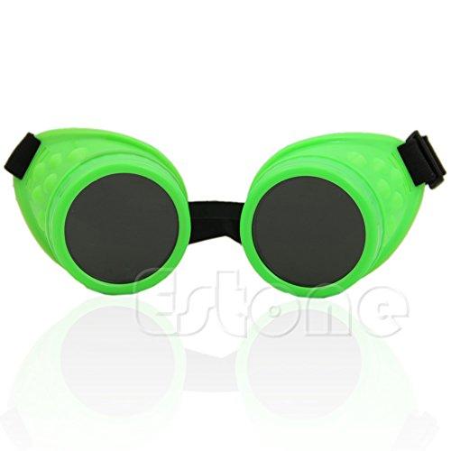 SLYlive Vintage Steampunk Brille - grün