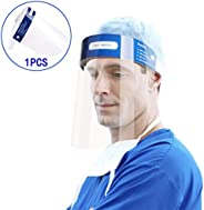 Reusable Safety Face Shields Adjustable Transparent Full Face Protective Visor Protection Shield Anti-Spitting