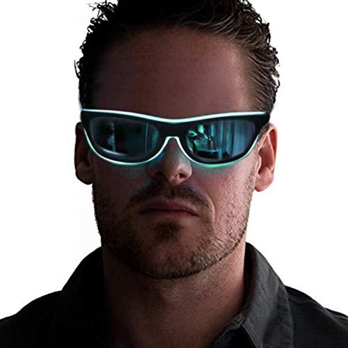Storerine Verrückte Mode LED-Brille leuchten Shades Flashing Rave Hochzeitsfeier Festival Karneval Leuchtende Gläser, LED-Gläser, Partybrillen Feier -