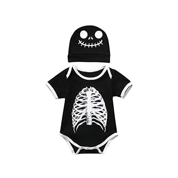 HAOHEYOU 0-24 Meses Conjuntos De Ropa para BebéS NiñO Infantil Bebé Muchachos Chicas VíSpera De Todos Los Santos Dibujos… 1