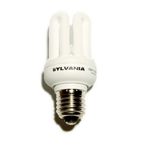 Sylvania 11W Schnellstart E27/Edison Schraubsockel kaltweiße Farbe 840 [4000K] - Edison-schraubsockel
