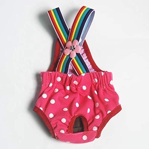 DingDing Niedliche Träger, Physiologische Hosen, Hunde-Sicherheitshosen, Menstruationshosen (Farbe : B, größe : XS)
