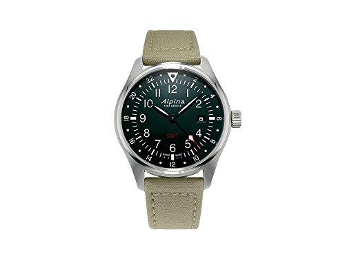 Alpina Geneve Startimer Pilot AL-247B4S6 Reloj de Pulsera para hombres Segundo Huso Horario