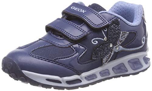 Geox J Shuttle Girl A, Zapatillas para Niñas, (Avio/Sky C4504), 36 EU