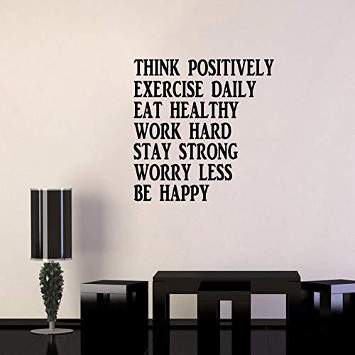 Positiv denken Inspirierend Aufkleber Dekore Wand Zitate PVC Wandaufkleber54.2CM*55CM (Inspirierende Wand-dekor)