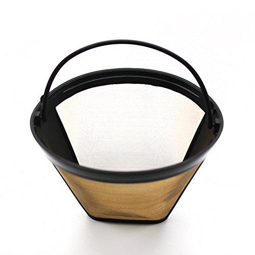 GEZICHTA Kegel-Kaffeefilter, 10–12 Tassen, permanent, wiederverwendbar, kegelförmig, Netzkorb,...
