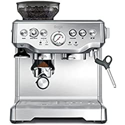 Sage Appliances SES875 Espresso-Maschine The Barista Express, Gebürstetes Edelstahl