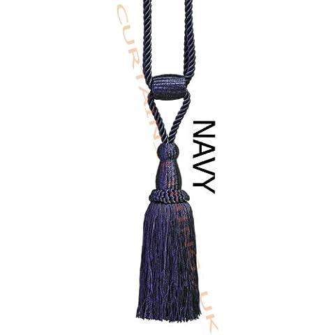 Azul marino - X2 Monaco cuerda para atar funda borla para tela cortina