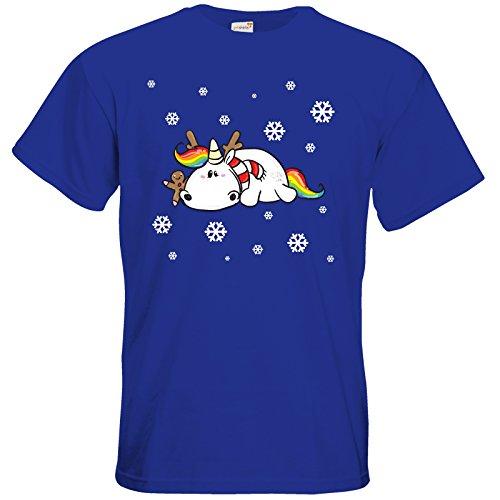 getshirts - Pummeleinhorn - T-Shirt - xmas Royal Blue