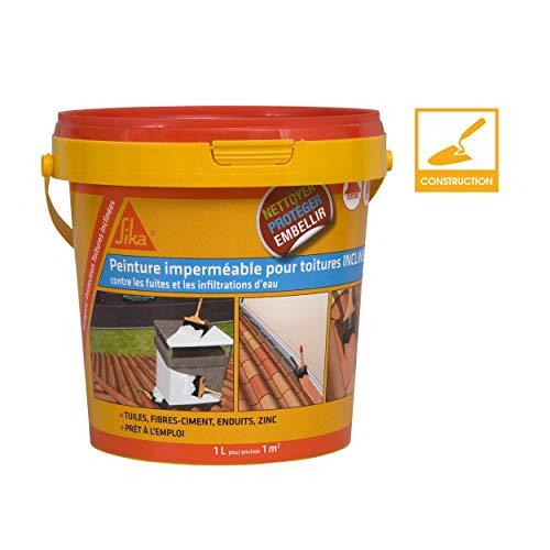 Sikagard Protection Toiture inclinée, Protection contre fuites et infiltrations d'eau, 1L, Terre cuite