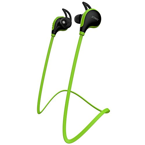 Meilun MS12 Sport Bluetooth Ohrhörer Kopfhörer Headphone Headset apt-X CSR v 4.1 In Ear mit Mikrofon für iPhone 6 6S 6 Plus 6S Plus 5S 5 5C 4S 4, Samsung Galaxy S6 S6 Edge S5 S4 Mini (Grün)