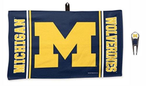 Michigan Wolverines Divot Tool (NCAA Michigan Wolverines Golf Ball Mark Repair Tool & 35,6x 61cm Waffle Handtuch-Set von 'WinCraft Snack-Schale)