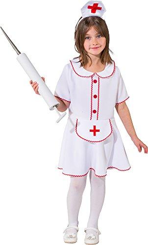 Kinder Krankenschwester Kostüm (Krankenschwester Kostüm für Mädchen - Gr. 116)