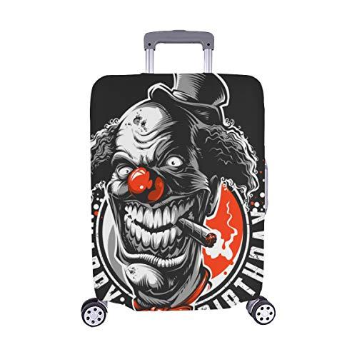 Böser unheimlicher Clown Monster Pattern Spandex-Trolley-Koffer Reisegepäck-Schutzkoffer-Abdeckung 28,5 X 20,5 ()