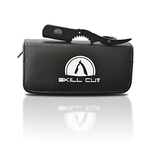 Hochwertiges Rasiermesser von Skillcut - Die einzigartig ergonomische Shavette für eine optimale Rasur - Mit extra Etui und Ersatzklinge
