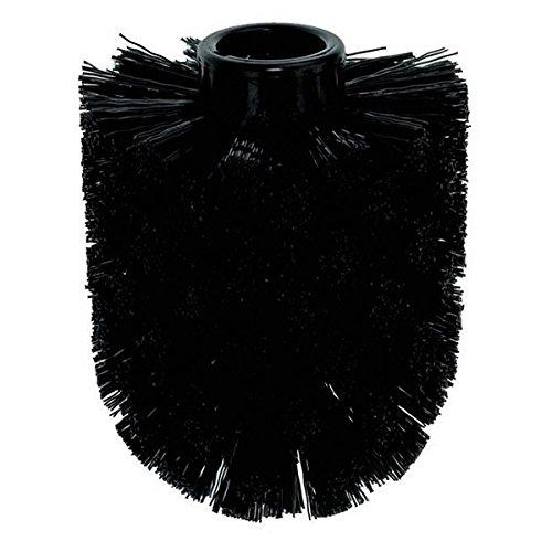 kela WC-Bürstenkopf Max aus Kunststoff in schwarz, Plastik, 8.5 x 8.5 x 10 cm