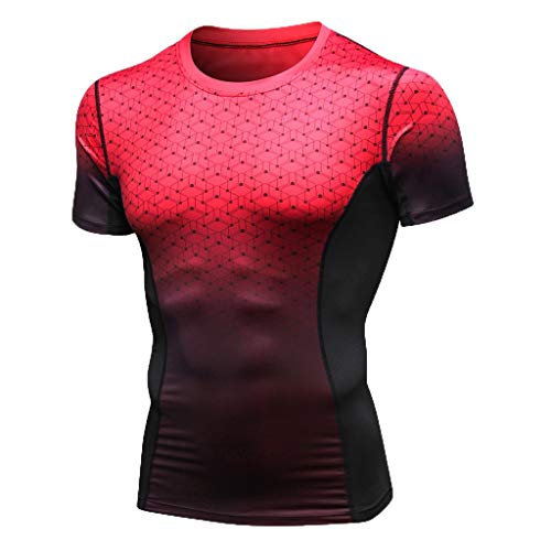 78348149824644 MEETEW Mens Compression Cool Dry Sports Tights Shirt Baselayer Running Yoga  Workout Rashguard Short Sleeve T