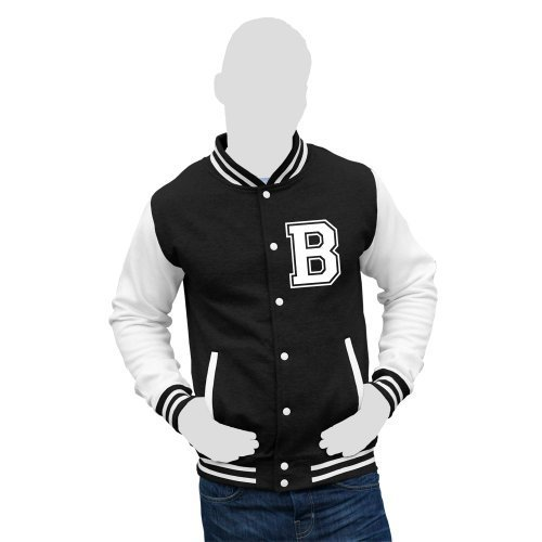 41qrDl%2BxZpL BEST BUY UK #1Personalised Varsity College Letterman Jacket Personalise with any initial. (Black/White, Large 44 Chest) (GIVE DETAILS OF INITIAL REQUIRED IN THE GIFT MESSAGE BOX) price Reviews uk
