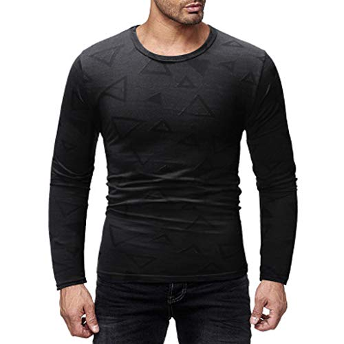 DNOQN Polo Shirt Männer Longsleeve Weiß Mode Herren Nadel Zeigen Herbst Langarm Beiläufig Fit Baumwolle Round Top Bluse L