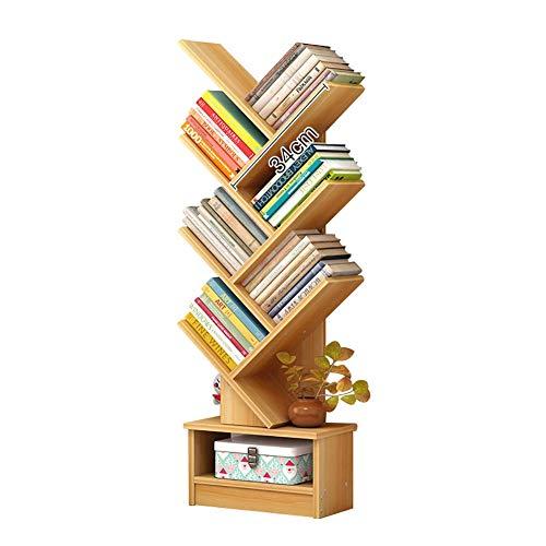 Librerías Estantería, Muebles de Estudio para Oficina y hogar, estantería de Madera Estantería de exhibición Unidad de Almacenamiento Organizador Estante para estanterías (Color : Wooden Color)