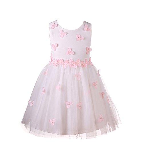eine Mädchen Flowers Blumen Kleider Freizeit ärmellose Party Prinzessin kleid Girls Dress (9-10 jahre, style-11-weiße) (Cute Christmas Kleid)