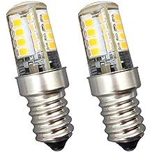 KingYH 2 Pieza 4 W E14 Frigorífico Bombilla LED E14 ESE Bombilla Blanca Cálida 3000K 220V