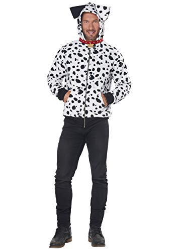 Fancy Dalmation Dress Kostüm - Men's Dalmatian Hoodie Fancy Dress Costume Small/Medium