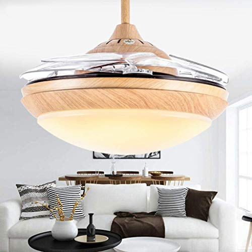 DEE Leuchten - Wohnzimmer Deckenleuchten Holzblech von Simple der Lüftung ist naheliegend Fünf Deckenventilatorblatt Modernes grünes Zuhause Vier Jahreszeiten Restaurant Lounge LED Fan Licht Brise SI -