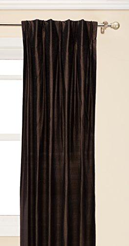 Brielle 100% Dupionseide, Rod Loop Back Tab Panel, gefüttert, isoliert, verdunkeln, PINCH Falte Finish - Gefüttert-panels