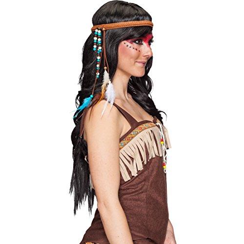 Indianer Kopfschmuck Western Kopfband Indianerin Haarband Feder Stirnband Karnevalskostüme Zubehör Indianerkostüm Accessoire Pocahontas Haarschmuck