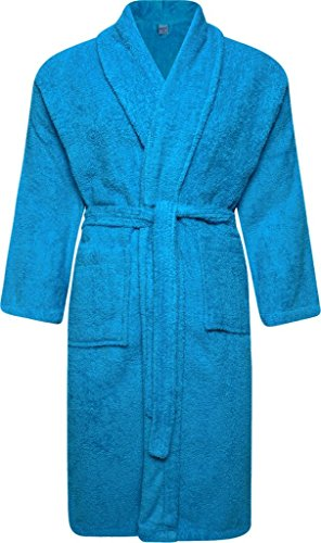Adore Home Mens and Ladies 100% Cotton Terry Towelling Adults Shawl Collar Bathrobe Dressing Gown Bath Robe Test