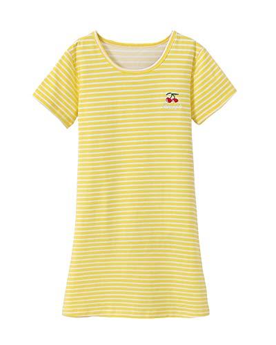 DianShaoA Prinzessin Netter Druck Nachthemden Für Mädchen Kurzarm Kinder Schlafanzüge Für 3-12 Jahre 865258Gelb 100