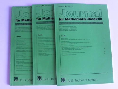 Journal für Mathematik-Didaktik. Zeitschrift der Gesellschaft für Didaktik der Mathematik. Jahrgang 17, 1996, Heft 1 bis 4 in drei Heften