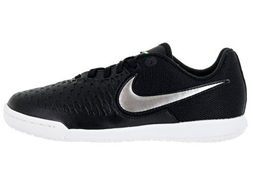 Nike  JR Magistax Pro IC, Herren Fußballschuhe Schwarz / Grau / Weiß (Schwarz / MTLC PWTR-Weiß-Grn Glw-)