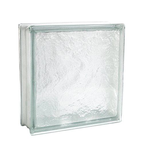 2 pezzi Fuchs Vetromattone Iceberg Trasparente 30x30x10 cm
