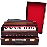 Khushi Musicals Wooden Portable Folding 3.5 Octave 9 Stopper Harmonium with Coupler (Rosewood)