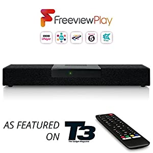 Netgem SoundBox Freeview Play: Full HD TV Box with Built-In Home Theater - Amazon Alexa Voice Control and One Year of Prime Included (Existing Prime customers get 1 year extension)