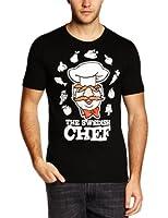 Logoshirt Men's Muppets - Swedish Chef Crew Neck Short Sleeve T-Shirt