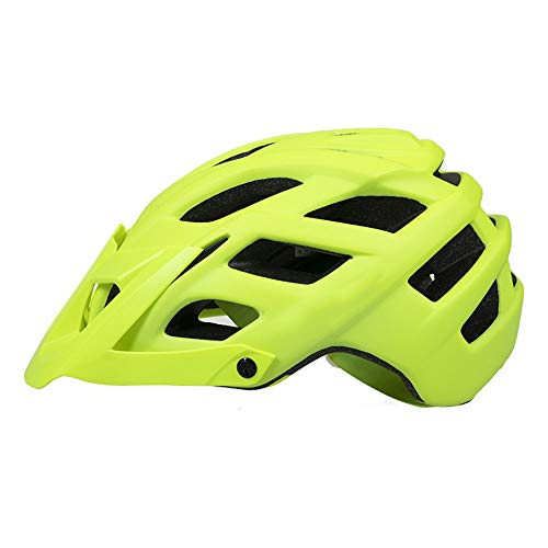 NAN Fahrradhelm - Leichter Fahrradhelm Overall Aus Geformtem EPS Fahrradhelm Teen/Youth,Green,L