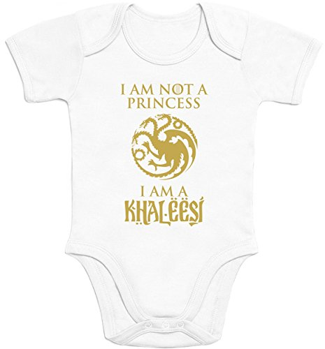 I'm not a Princess, a Khaleesi Geschenk für kleine Fans Baby Body Kurzarm-Body 57/68 (3-6M) (Khaleesi Aus)