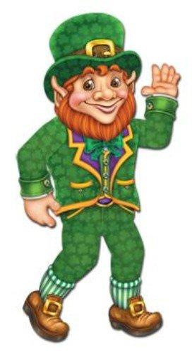 Jointed Leprechaun Partyzubehör (1 Stück), 1 Stück (Glücklicher Kobold Kostüm)