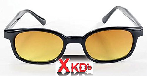 X KD Sunglasses Blue Buster Amber Lens Sunglasses Large Size UV400 by Original KD's Sunglasses KD X